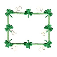 shamrock frame machine embroidery border embroidery art pes hus dst needle passion embroidery npe