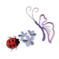 ladybug machine embroidery design ladybird insect art pes hus dst needle passion embroidery npe