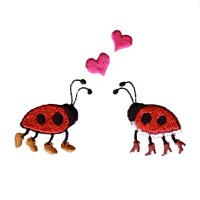 ladybug ladybirds in love machine embroidery design ladybird insect art pes hus dst needle passion embroidery npe