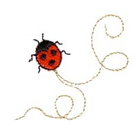 ladybird ladybug critter insect machine embroidery design swirl swirly trail swirls cute bug needle passion embroidery needlepassion npe bernina artista art pes hus jef dst designs