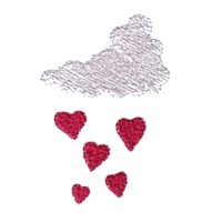 it's raining hearts cloud love heart valentine machine embroidery design darling by needle passion embroidery