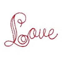 love outline script lettering heart valentine machine embroidery design darling by needle passion embroidery