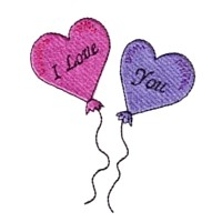 i love you balloons love heart valentine machine embroidery design darling by needle passion embroidery