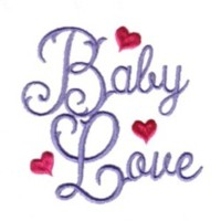 baby love script monogram lettering love heart valentine machine embroidery design darling by needle passion embroidery
