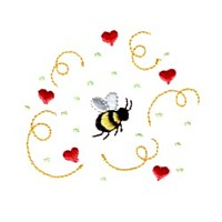love bumble bee with heart confetti love heart valentine machine embroidery design darling by needle passion embroidery