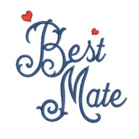 best mate script lettering machine embroidery design love wedding heart party relatives art pes hus dst needle passion embroidery npe