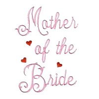 mother of the bride machine embroidery design love wedding heart party relatives art pes hus dst needle passion embroidery npe