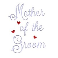 mother of the groom script lettering machine embroidery design love wedding heart party relatives art pes hus dst needle passion embroidery npe