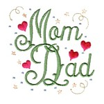 mom dad lettering machine embroidery design mom and dad mum needle passion embroidery npe