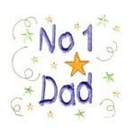 no 1 dad lettering machine embroidery design mom and dad mum needle passion embroidery npe