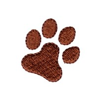 paw dog machine embroidery design pet doggy paws needle passion embroidery npe