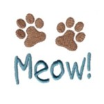 cat meow paws machine embroidery design feline art pes hus dst needle passion embroidery npe