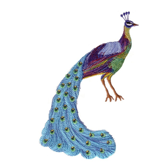 The king of birds peacock machine embroidery design for