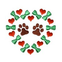 paws in a heart and bow frame love heart valentine machine embroidery design darling by needle passion embroidery