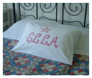 ella monogrammed pillow case with applique scrip letters from machine embroidery applique script letter alphabet in the hoop machine embroidery appliqué design embroidery module monogram monogramming art pes hus dst needle passion embroidery npe