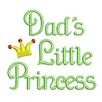 dad's little princess text machine embroidery design girl girls rule diva girly queen crown confetti lettering text slogan art pes hus dst needle passion embroidery npe