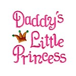 daddy's little princess whimsical lettering machine embroidery design girl girls rule diva girly queen crown confetti lettering text slogan art pes hus dst needle passion embroidery npe