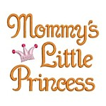 mommy's little princess machine embroidery design girl girls rule diva girly queen crown confetti lettering text slogan art pes hus dst needle passion embroidery npe