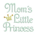 mom's little princess machine embroidery design girl girls rule diva girly queen crown confetti lettering text slogan art pes hus dst needle passion embroidery npe