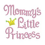 mommy's little princess whimsical machine embroidery design girl girls rule diva girly queen crown confetti lettering text slogan art pes hus dst needle passion embroidery npe