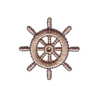 helm stearing wheel machine embroidery nautical maritime seaside beach sea swimming fishing design art pes hus dst needle passion embroidery npe