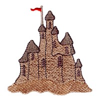 sand castle machine embroidery nautical maritime seaside beach sea swimming fishing design art pes hus dst needle passion embroidery npe