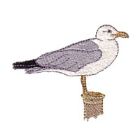 seagull sea gull machine embroidery nautical maritime seaside beach sea swimming fishing design art pes hus dst needle passion embroidery npe
