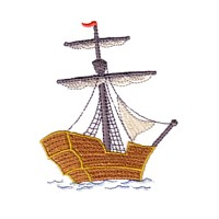 tall ship tallship gallion boat ship machine embroidery nautical maritime seaside beach sea swimming fishing design art pes hus dst needle passion embroidery npe