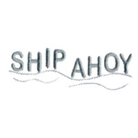 ship ahoy machine embroidery nautical maritime seaside beach sea swimming fishing design art pes hus dst needle passion embroidery npe