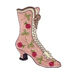 vintage victorial boots machine embroidery shoe design shoes art pes hus dst needle passion embroidery npe