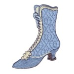 vintage ladies boots machine embroidery shoe design shoes art pes hus dst needle passion embroidery npe