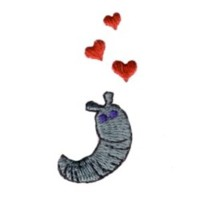 love struck slug hearts valentine machine embroidery design darling by needle passion embroidery