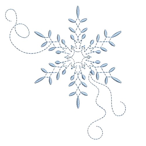snowflake machine embroidery design needle passion embroidery npe