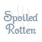 Spoiled Rotten lettering free machine embroidery design from http://www.needlepassionembroidery.com