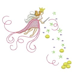 fairy with coin confetti embroidery machine embroidery design needle passion embroidery npe