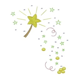 machine embroidery design magic fairy wand