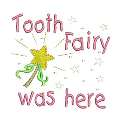 tooth fairy was here wand embroidery machine embroidery design needle passion embroidery npe