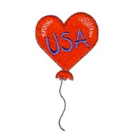usa balloon heart shape machine embroidery design america usa patriotic red blue white stripes 4th july fourth of july independence day art pes hus dst needle passion embroidery npe