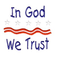in god we trust lettering with stars and stripes machine embroidery design america usa patriotic red blue white stripes 4th july fourth of july independence day art pes hus dst needle passion embroidery npe