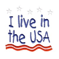 i live in the usa lettering text with stars and stripes machine embroidery design america usa patriotic red blue white stripes 4th july fourth of july independence day art pes hus dst needle passion embroidery npe