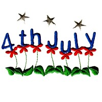4th of july flowers with stars machine embroidery design america usa patriotic red blue white stripes 4th july fourth of july independence day art pes hus dst needle passion embroidery npe