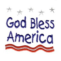 god bless america machine embroidery design america usa patriotic red blue white stripes 4th july fourth of july independence day art pes hus dst needle passion embroidery npe