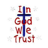 in god we trust cross machine embroidery design america usa patriotic red blue white stripes 4th july fourth of july independence day baby toys kids children art pes hus dst needle passion embroidery npe