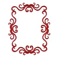border machine embroidery victorian scroll frame border design
