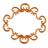 machine embroidery victorian scroll frame border design