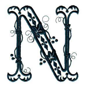 ... alphabet letter fancy victorian monogram letters monogramming