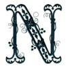 machine embroidery alphabet letter fancy victorian monogram letters monogramming