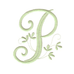 P Alphabet Design Vintage Alphabet monogram letters - machine embroidery designs