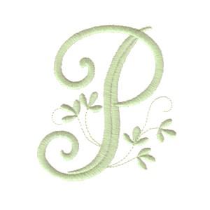 P Alphabet Design Vintage Alphabet monogram letters - machine embroidery designs