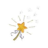 magic star wand machine embroidery fairy dust girls magic stuff confetti lettering design art pes hus dst needle passion embroidery npe